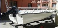 Fiber Tekne – Römork – 15 Hp Motor