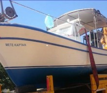 Bodrumda Yeşil Ruhsatlı Ahşap Tekne