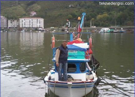Trabzonda Balıkçı Teknesi