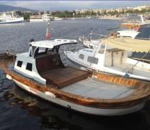 İzmir'de Satılık Ahşap Balıkçı Teknesi