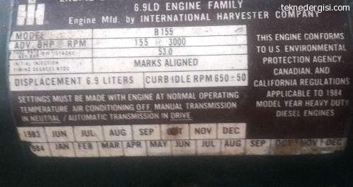 155 Hp Tekne Motoru