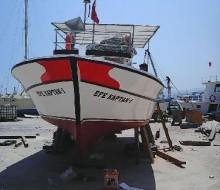 Silifke'de Ahşap Balıkçı Teknesi 9,30