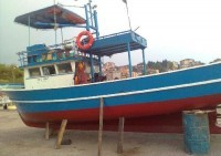 Bartın'da Ahşap Balıkçı Teknesi