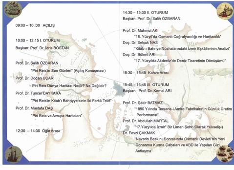 Pipri Reis Sempozyumu Programı