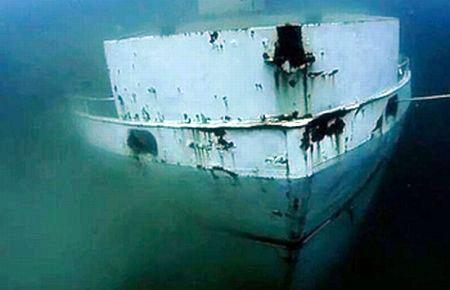 Fethiye Körfezinde Batık Gemi